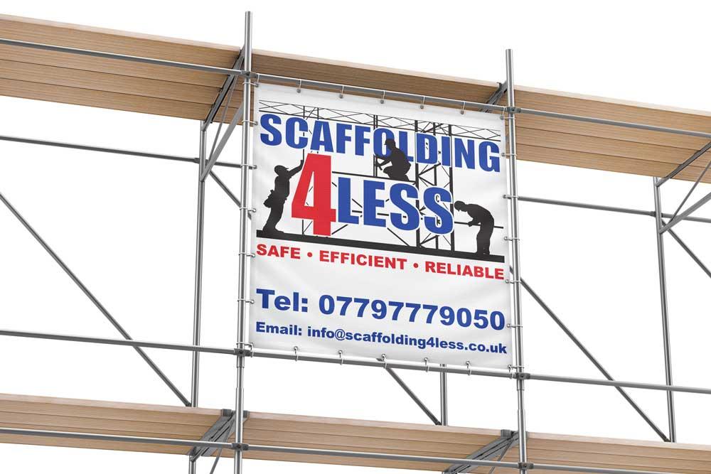 Scaffolding4Less vinyl banner images